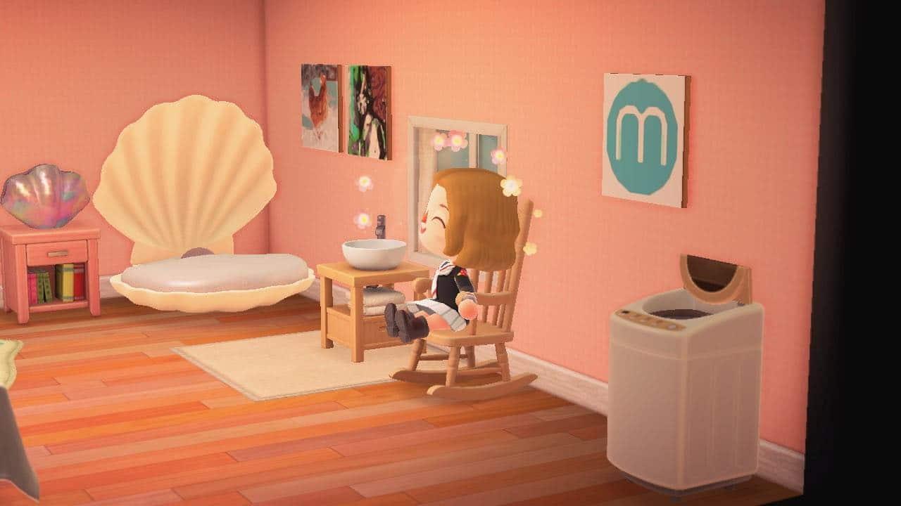 Regardez-moi ce lit coquillage et ce tableau Madmoizelle !
