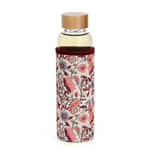 Bouteille en verre de 50 cl avec infuseur et manchon amovibles, Nature & Découvertes, 19,95€.