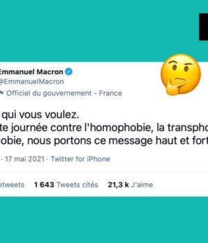17 mai petite phrase macron tweet