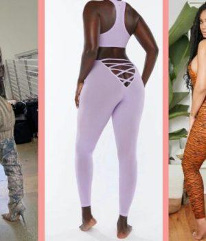 Rihanna et Kim Kardashian plaident pour le legging à fesses apparentes