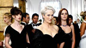 Anne Hathaway, Meryl Streep et Emily Blunt dans Le Diable s'habille en Prada