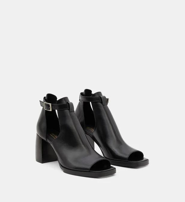 Sandales à talon en cuir, Minelli
