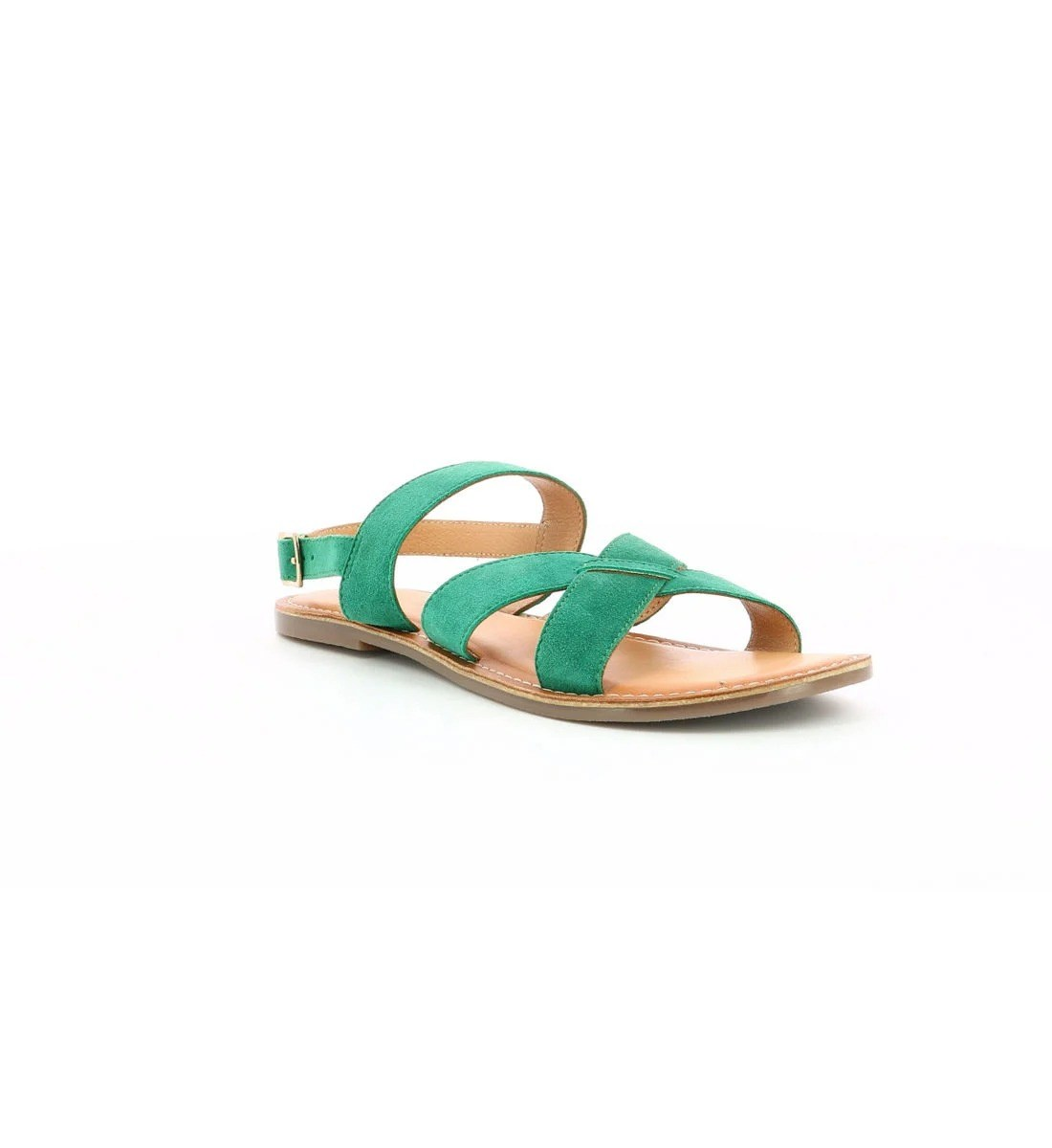 Sandales en cuir, Kickers, 33€ au lieu de 55€.