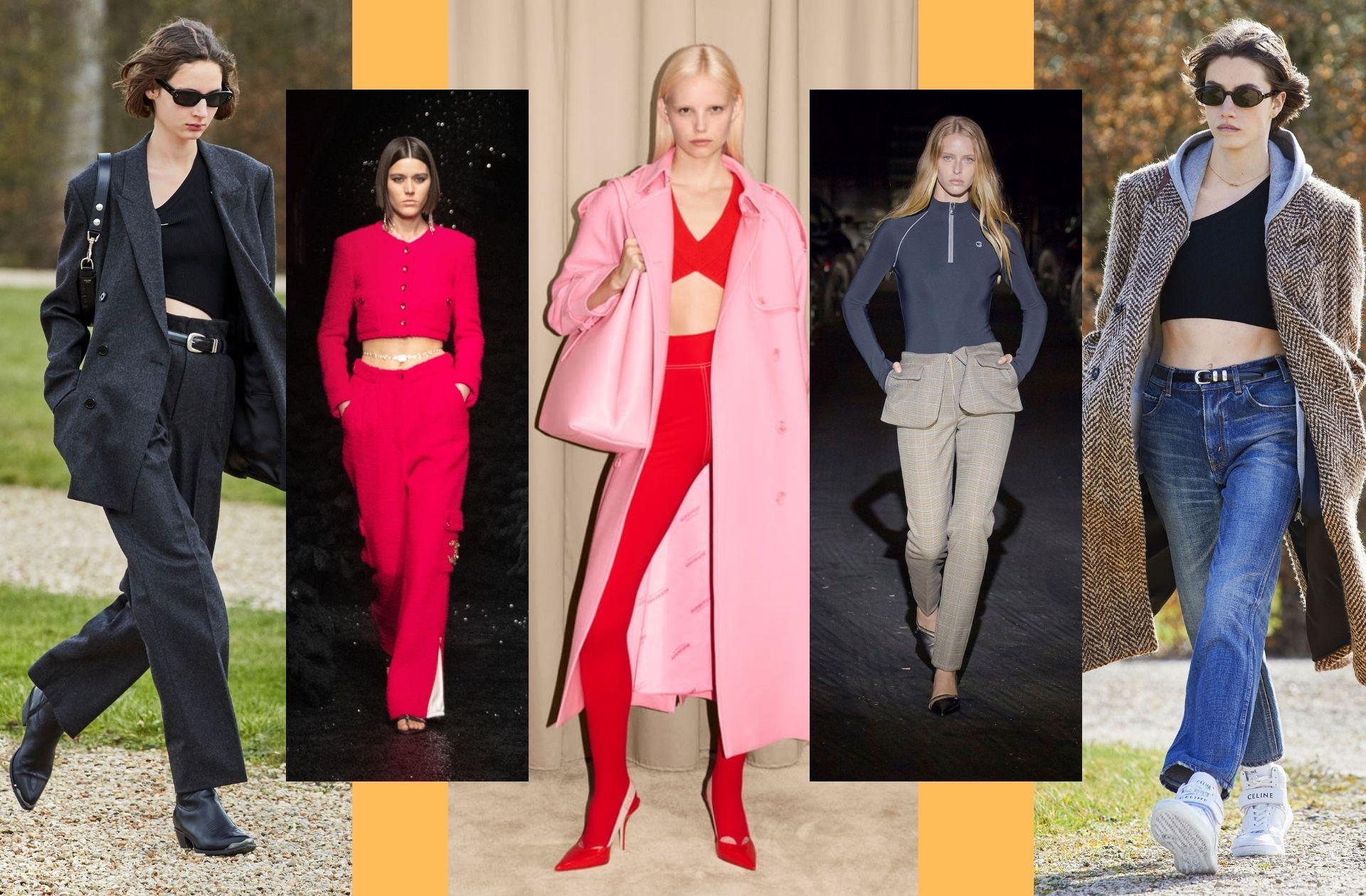 Le mixe de pièces tailleurs et sportswear aperçus chez Céline, Chanel, Burberry, Coperni, et Celine encore.