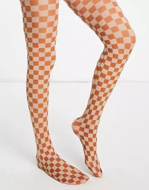 Les collants colorés à imprimé sixties nous font une belle jambe cet automne/hiver