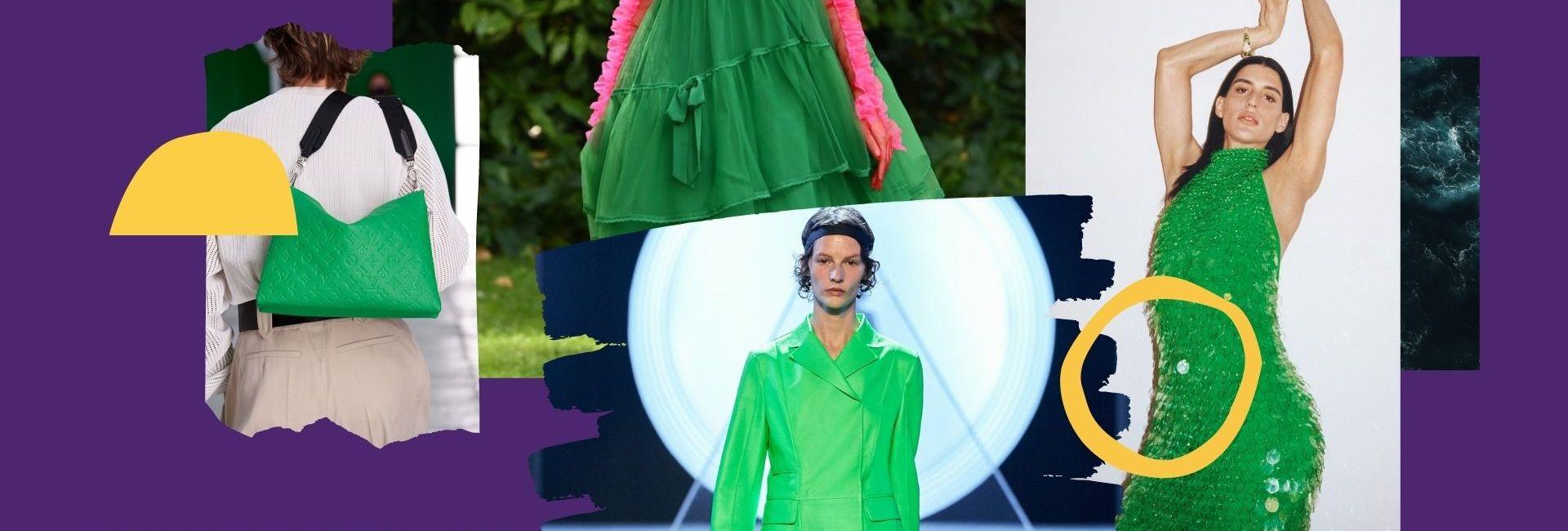 Le vert franc fait vibrer les vêtements