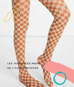 Les collants colorés à imprimé sixties nous font une belle jambe