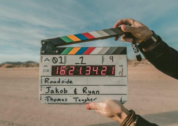 clap sur le tournage d'un film