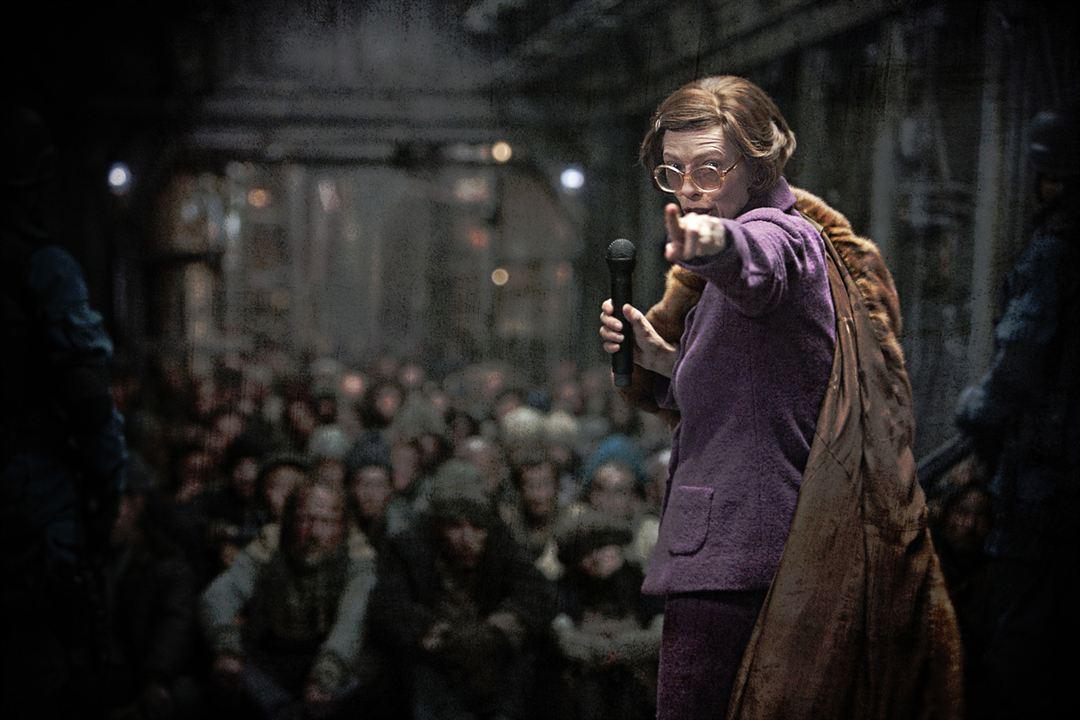 Tilda Swinton dans le film Snowpiercer, le transperceneige