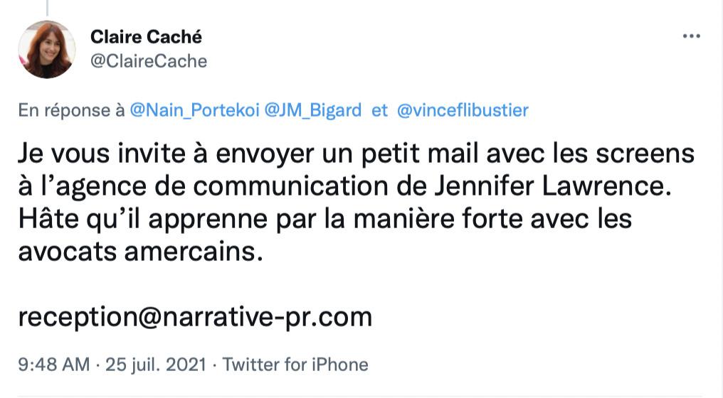 Sah quel plaisir : Bigard Magazine condamné à payer 20000€ à Jennifer Lawrence