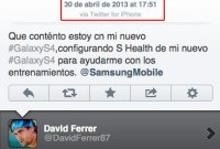 David Ferrer vante le Galaxy S4 sur Twitter... avec son iPhone