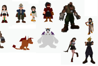 Impression 3D : les persos de Final Fantasy VII retirés de Shapeways